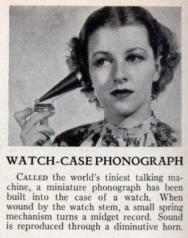 Watch-case Phonograph