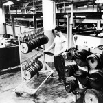Record manufacturing in 1954