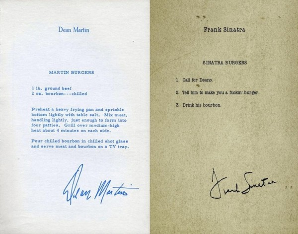 Burgers, by Dean Martin and Frank Sinatra