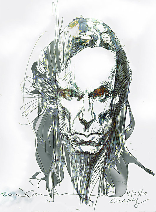 Iggy Pop, by Bill Sienkiewicz
