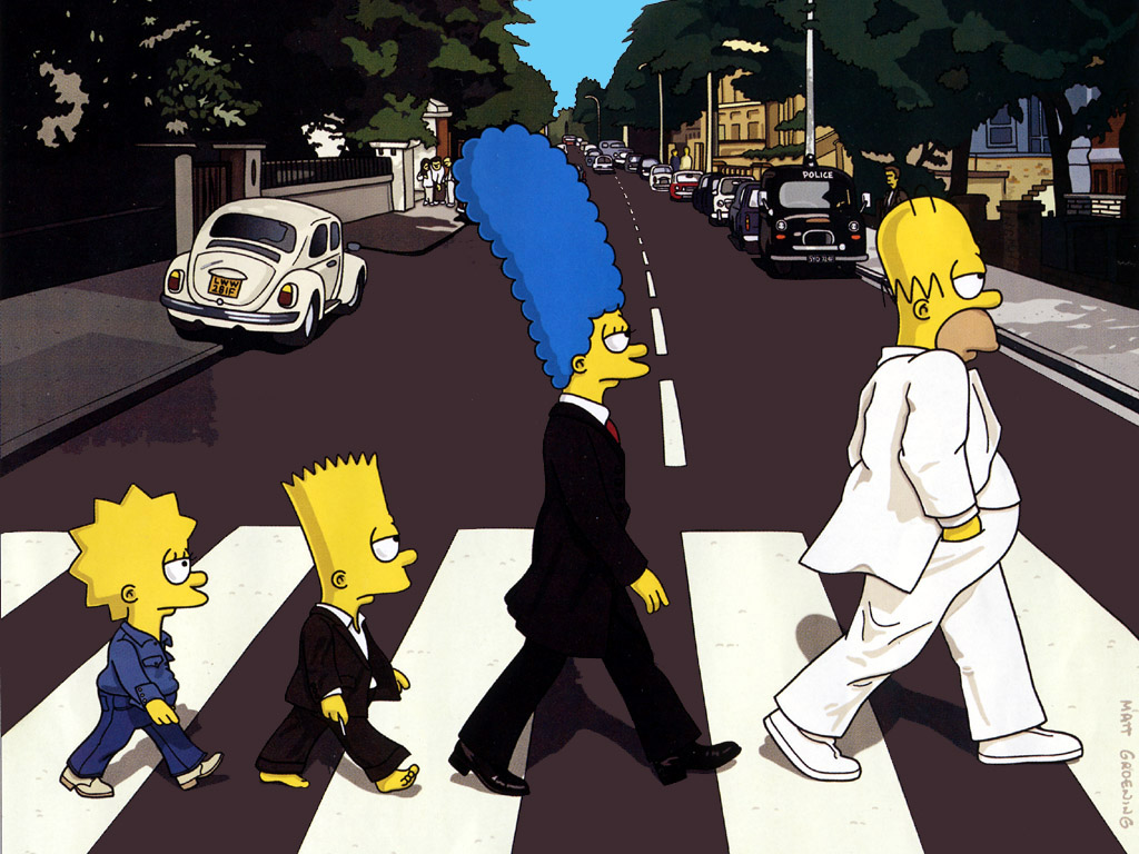 The Simpsons Abbey Road, Matt Groening.