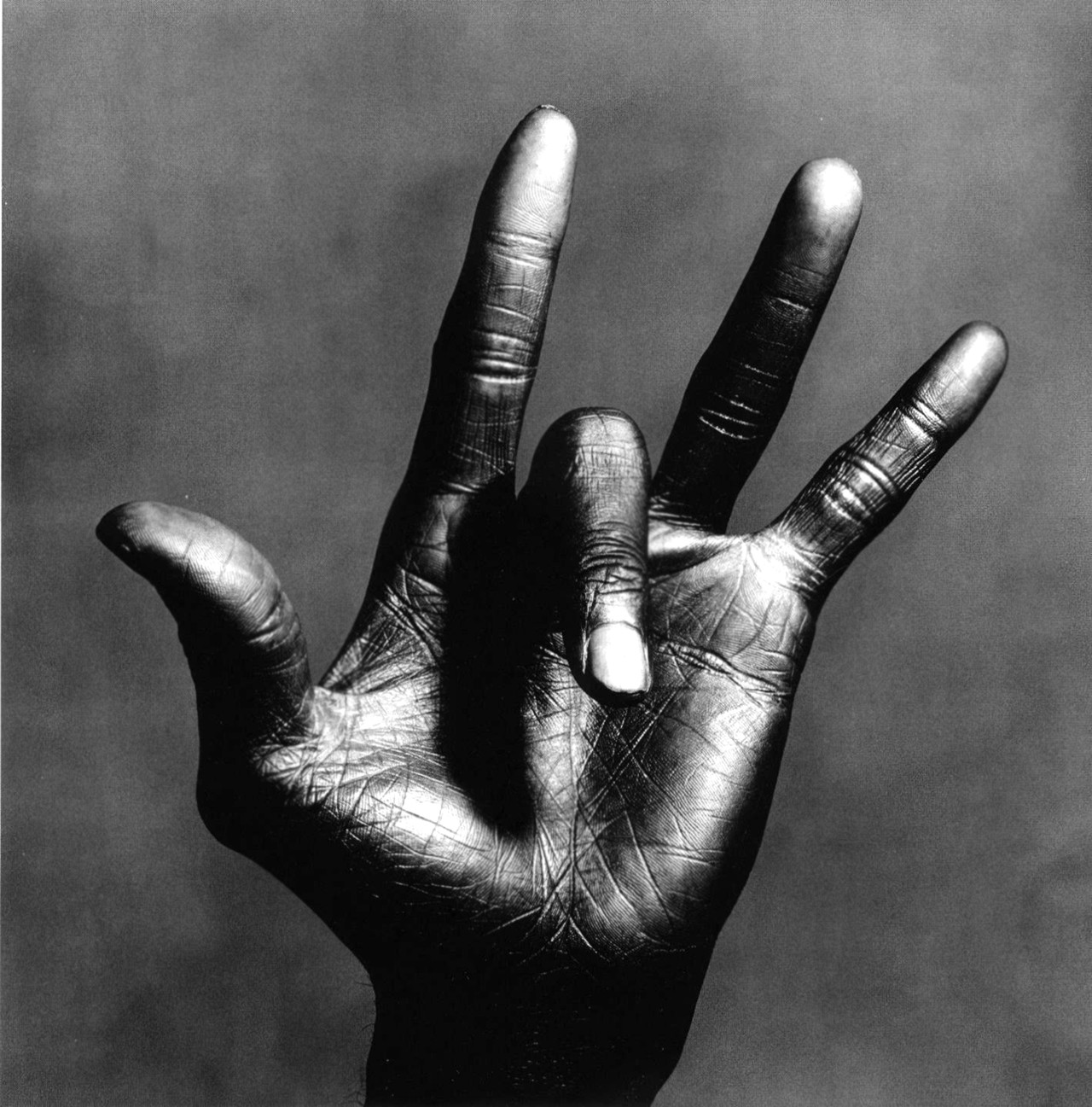 """The Hand of Miles Davis"", Irving Penn, New York, 1986"