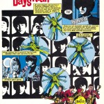 Marvel Super Special: The Beatles Story, 1978. Art by George Perez and Klaus Janson; words by David Anthony Kraft; Lettering by Tom Orzechowski; Colors by Petra Goldberg.