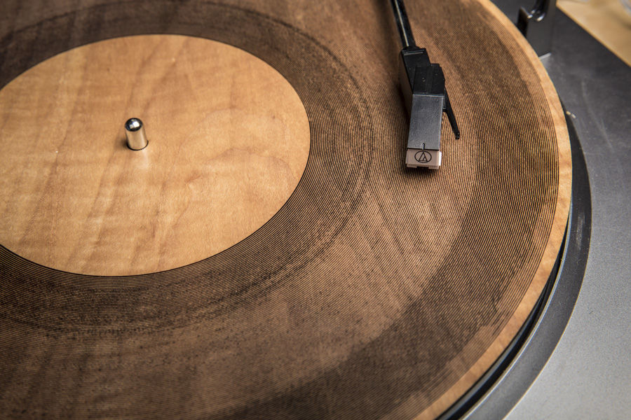 Amanda Ghassaei, Laser Cut Wood Record