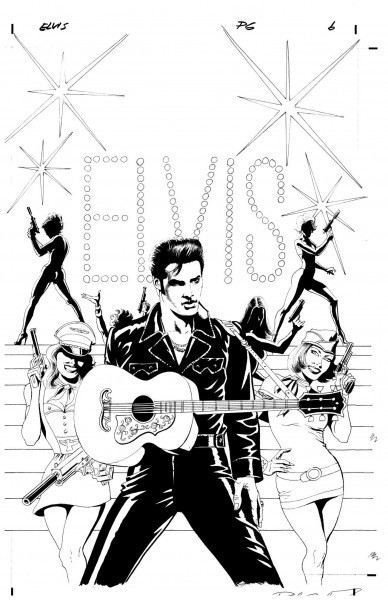 """Elvis Presley: Showbiz Spy"", por Paul Gulacy para ""Graphic Elvis"" (2012)"