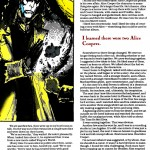 Neil Gaiman promo piece for his Alice Cooper: The Last Temptation comic, written for Marvel Age Magazine