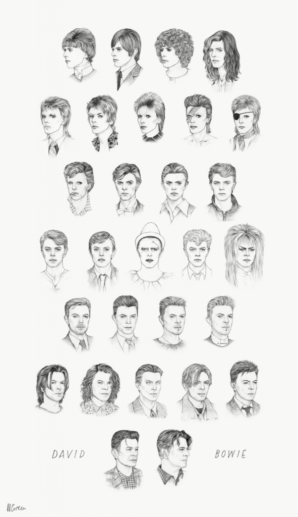 Every Bowie hairstyle from 1964 to 2014