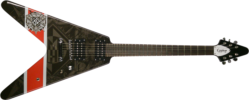 Epiphone Robb Flynn Machine Head Bloodstone & Diamonds Flying-V