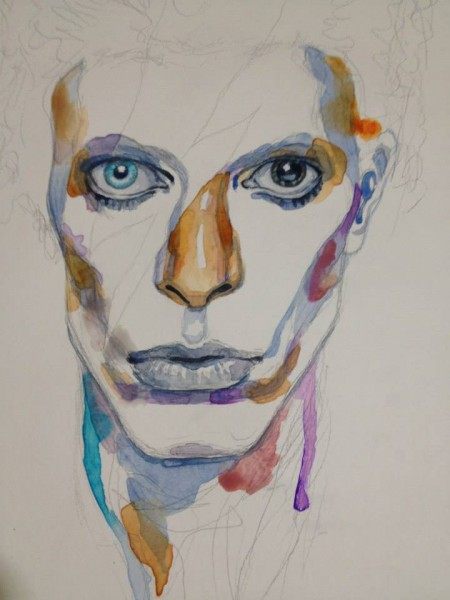 """David Bowie"" (early stage), David Mack"