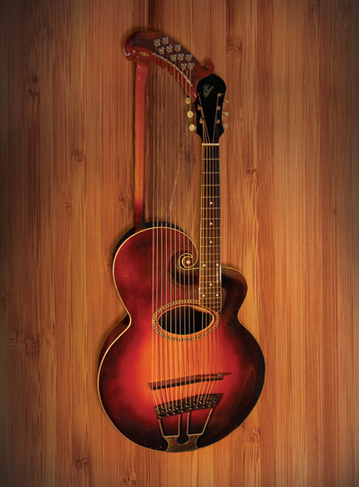 1917 'The Gibson' Harp Guitar, Style U