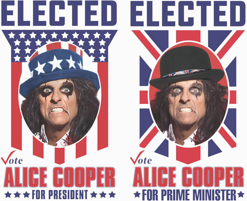 """Elected"", vote Alice Cooper"