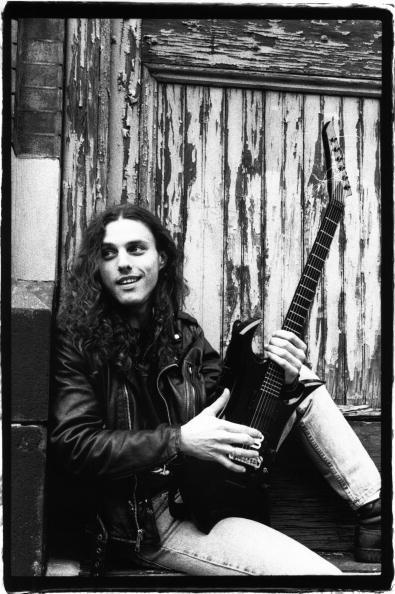 "NEW YORK - February 1995:  Portrait of American heavy metal musician Chuck Schuldiner (1967 - 2001) of the band Death in February 1995 in New York City, New York. Schuldiner is often referred to as the ""Father of Death Metal"".  (Photo by Catherine McGann/Getty Images)"