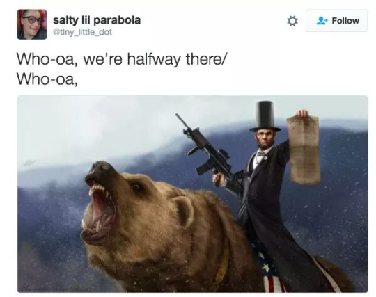 … Lincoln on a bear