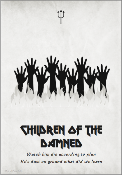 Iron Maiden - The Number Of The Beast (1982): «Children of the Damned», MIMINAL PULSE ART.