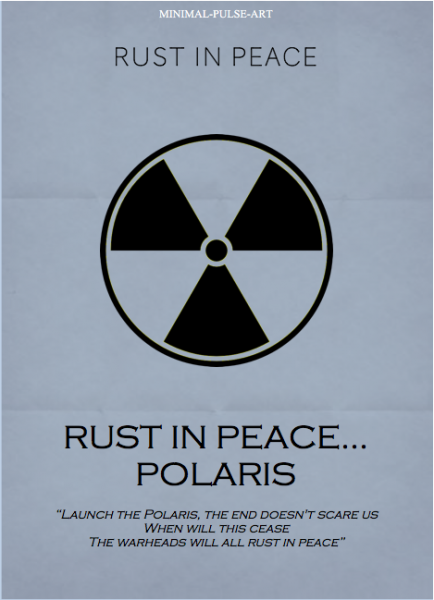 """MEGADETH - Rust In Peace (1990)"" - Concept Posters: Rust in Peace... Polaris"
