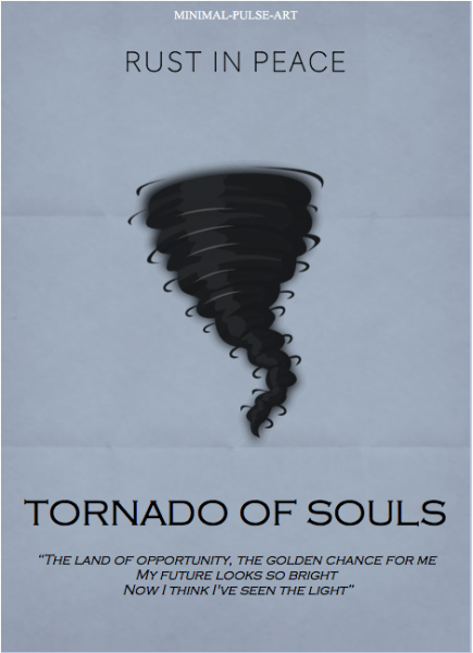 """MEGADETH - Rust In Peace (1990)"" - Concept Posters: Tornado Of Souls"