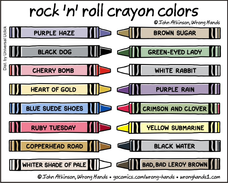 rock 'n' roll crayon colors | Wrong Hands