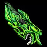 Jackson Custom Shop 7-String Legend of Zelda Zoraxe (Special Edition Fish Bone Guitar) #5 [2003]
