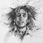 Vince Low, Simply Scribbly exhibition in Singapore, «Bob Marley»