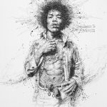 Vince Low, Simply Scribbly exhibition in Singapore, «Jimi Hendrix»