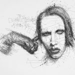 Vince Low, Simply Scribbly exhibition in Singapore, «Marilyn Manson»