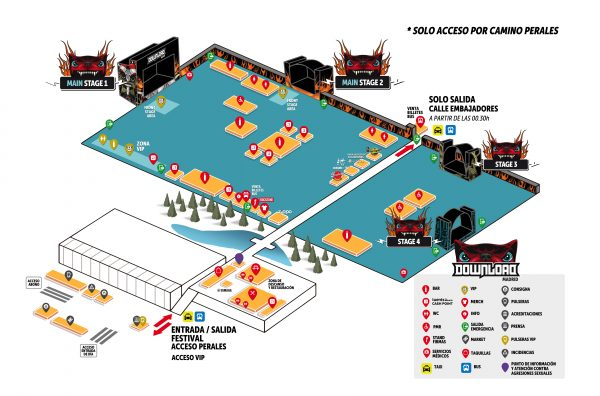 Mapa Download Festival 2018 Madrid