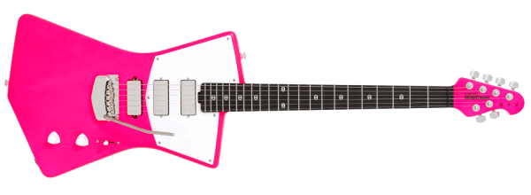 Ernie Ball Music Man St. Vincent MASSEDUCTION Neon Pink