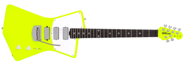 Ernie Ball Music Man St. Vincent MASSEDUCTION Neon Yellow