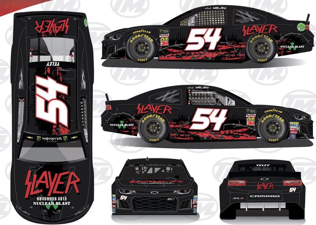 Rick Ware Racing #54 (JJ Yeley) × Slayer