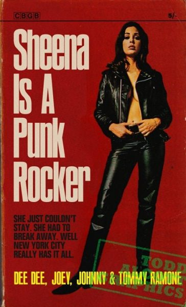 Todd Alcott Graphics - Ramones 'Sheena is a Punk Rocker' 1960s pulp novel mashup art print