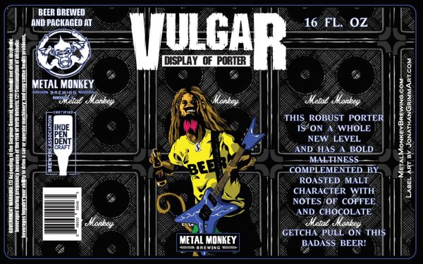 Cerveza «Vulgar Display of Porter» de Metal Monkey