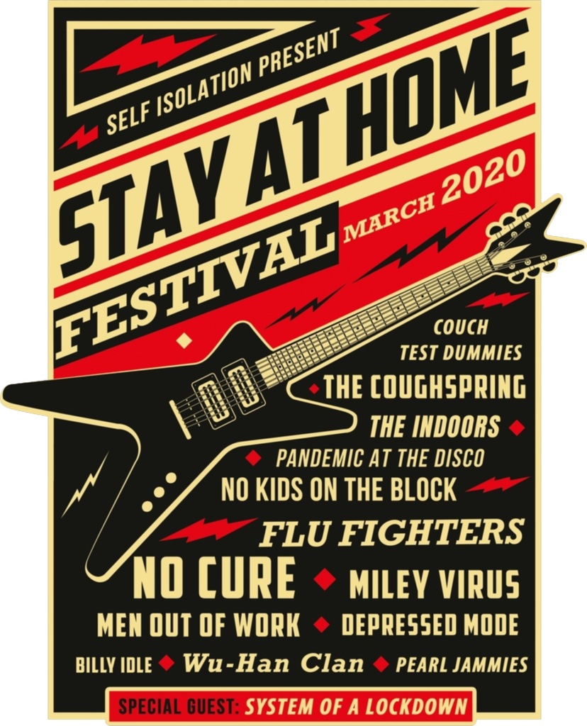 Quarantine Social Distancing Stay Home Festival 2020 Scarf